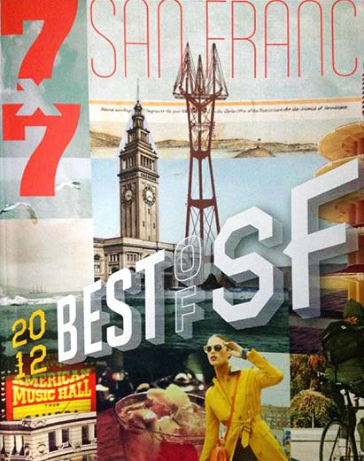 2012 7x7 Magazine Cover of article naming Cinta Salon as the best salon in San Francisco.